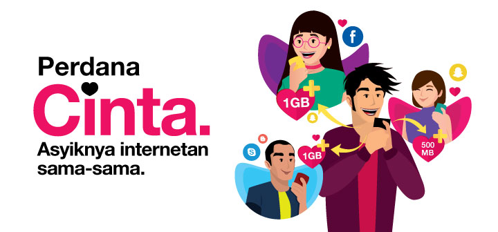 Paket Data Three - Cinta 70 GB